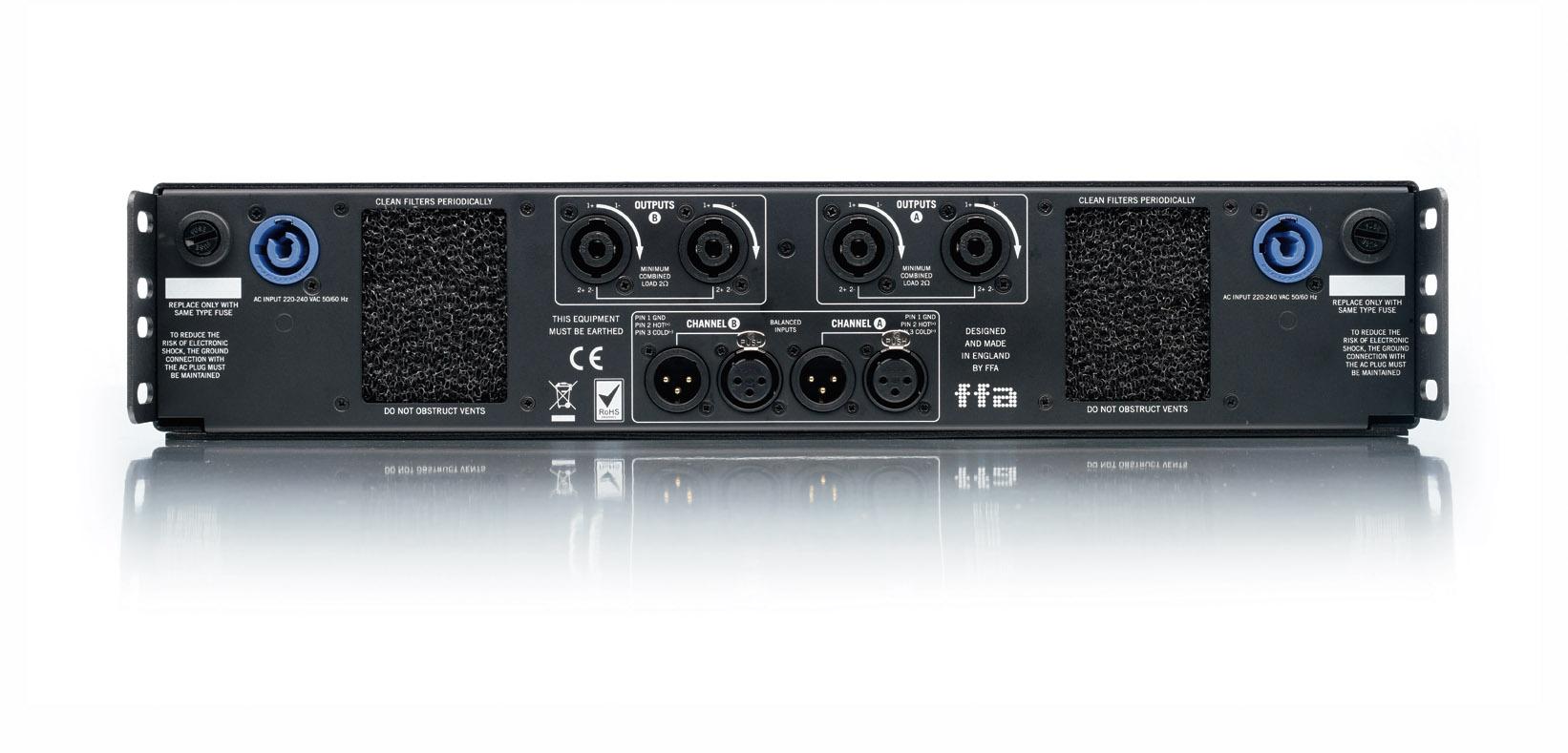 Ffa 8000 Dual Power 2 X 4000w 8 Ohm Pa Speaker Wiring Diagram Product Image